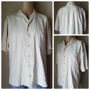 Tommy Bahama Silk Short Sleeve Button Up Shirt